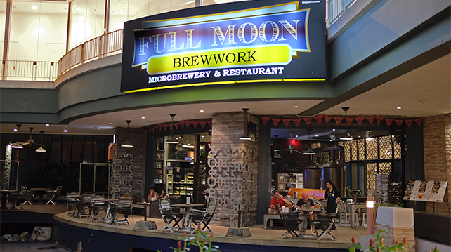 Fullmoon Brewpub in Phuket that serves their brew onsite and import their own beers brewed in Australia.