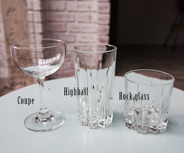 Home bar glassware