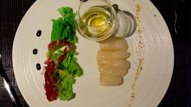 Glenrothes Tatsu Pairing Dinner Hokkaido Hotate Carpaccio