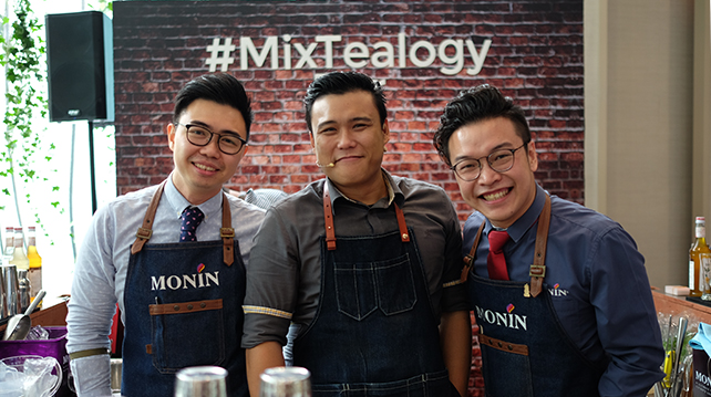 Monin's mixologists on the event day