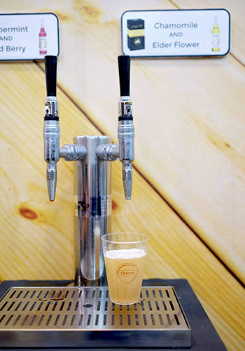 Mixed drinks served through nitro tap