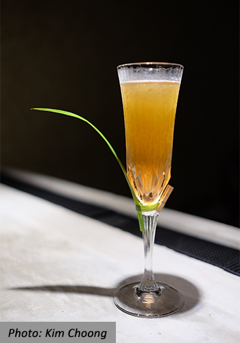 AD Bar Bangsar Cocktail Golden Leaf Pandan Infused Rum Gula Melaka