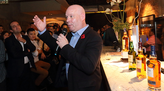 Darren Hosie, the Brand Ambassador for Chivas graced the launch of Glenlivet Founder's Reserve