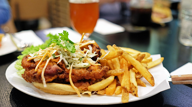 Black Tao Singapore Fried Chicken Burger