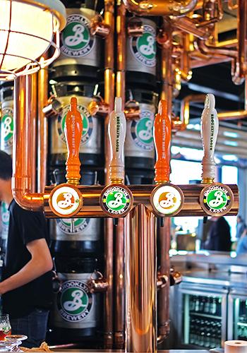 High Line Rooftop Market Brooklyn beer taps