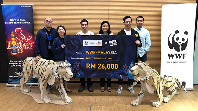 Tiger Beer x PMC cheque presentation to WWF MY