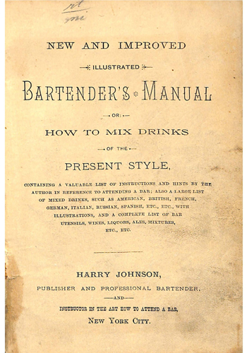 Bartenders Manual by Harry Johnson