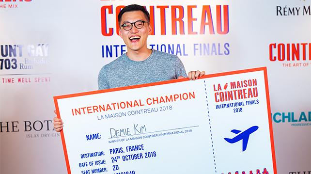 Demie Kim overall champion of La Maison Cointreau International 2018