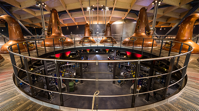 The Macallan new distillery copper stills