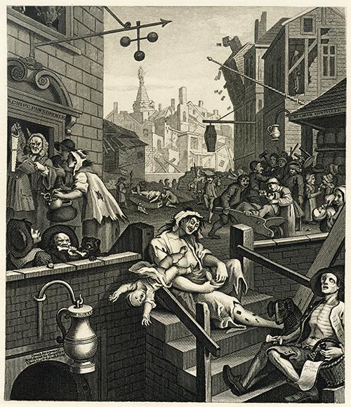 William Hogarth Gin Lane