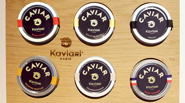 Kaviari caviar range
